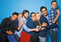 Full 'Big Bang Theory' cast at Comic Con 2011.