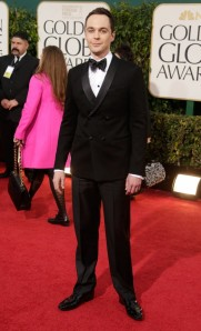 Jim Parsons at the 2013 Golden Globes.