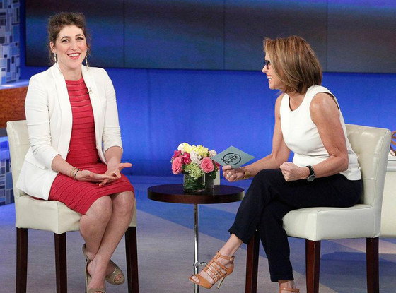 Mayim's appearance on Katie, April 14, 2014.